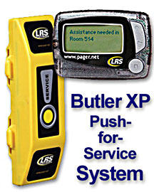staff pagers and push for service pager systems
