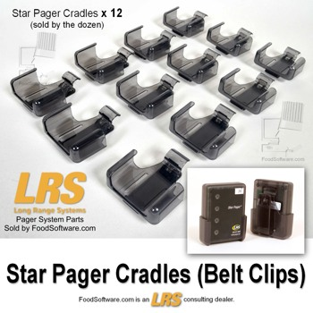 Lrs Pager System Components Pager Cradle Belt Clips For