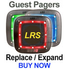 LRS Pager System Components: Coaster Call Guest Pagers - CS7 Model