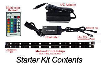 Multi color led strip light system starter kit for mood accent this ols multi color lighting kit system led strip aloadofball Image collections