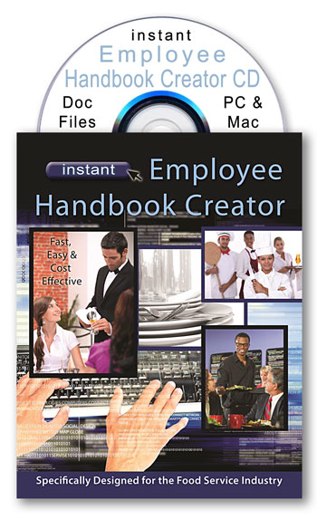 instant restaurant employee handbook creator cd for 2014 and after