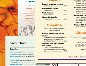 Softcafe Menupro Restaurant Menu Design Software Sample